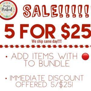 🔴 5/$25 SALE!!!!!!!🔴